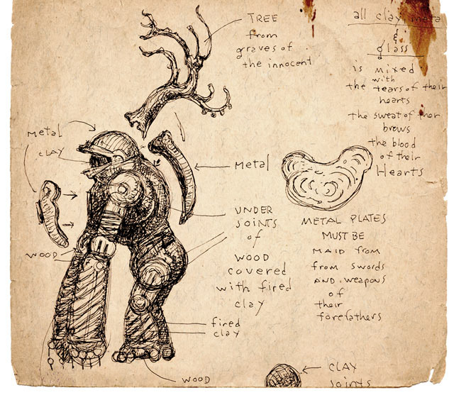 Diagrams for the Golem (from the Kickstarter Page)